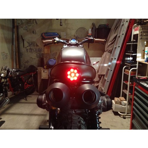 Achterlicht LED Universeel Rood Cafe Racer type Bates Style