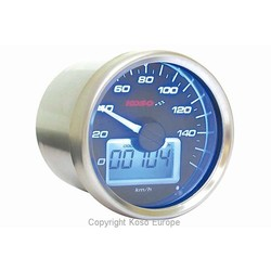 Indicateur de vitesse noir style GP 55 mm (max. 160 km/h)