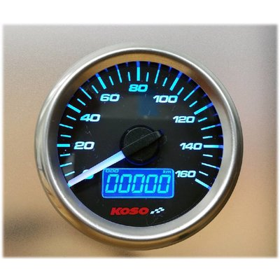 KOSO (max. 160 km / h) D48 GP Style Tachometer, Benzinmesser, ODO