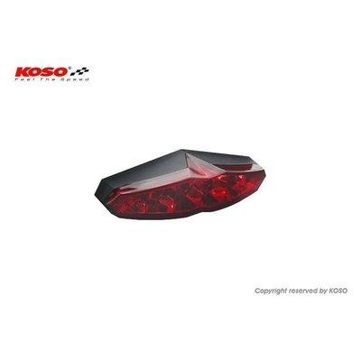 KOSO Feu arrière LED (avec éclairage pour plaque d'immatriculation) - Rouge Infinity