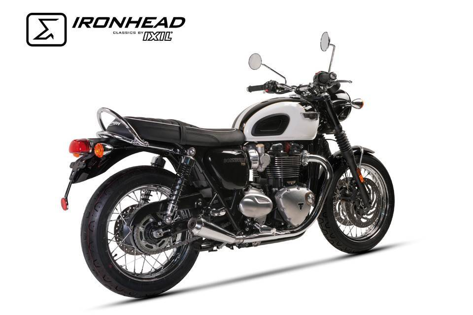 Ironhead damper for Triumph Bonneville T120, 16-Chrome E-marked