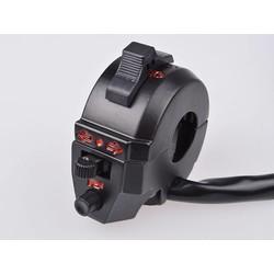 Interrupteur multifonction en aluminium pour guidon 22 mm, type 2