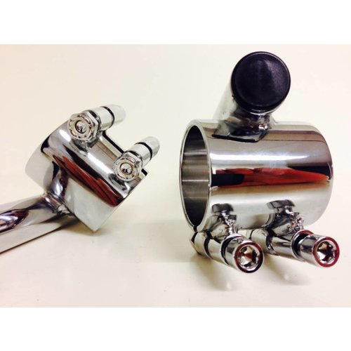 Emgo 22mm x 41MM Chrome Clipons Triumph, BMW
