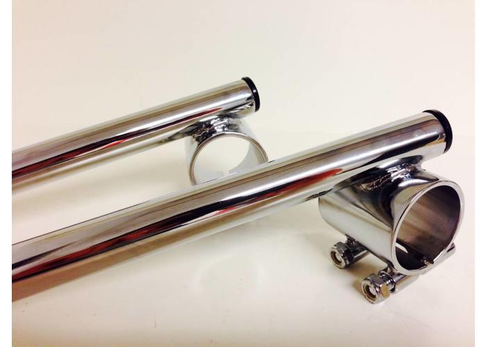 """Emgo 1"""" / 25.4mm 41MM Chrome Clipons Triumph, BMW"""