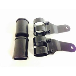 Pair of 53 - 57 mm Headlight Brackets Black