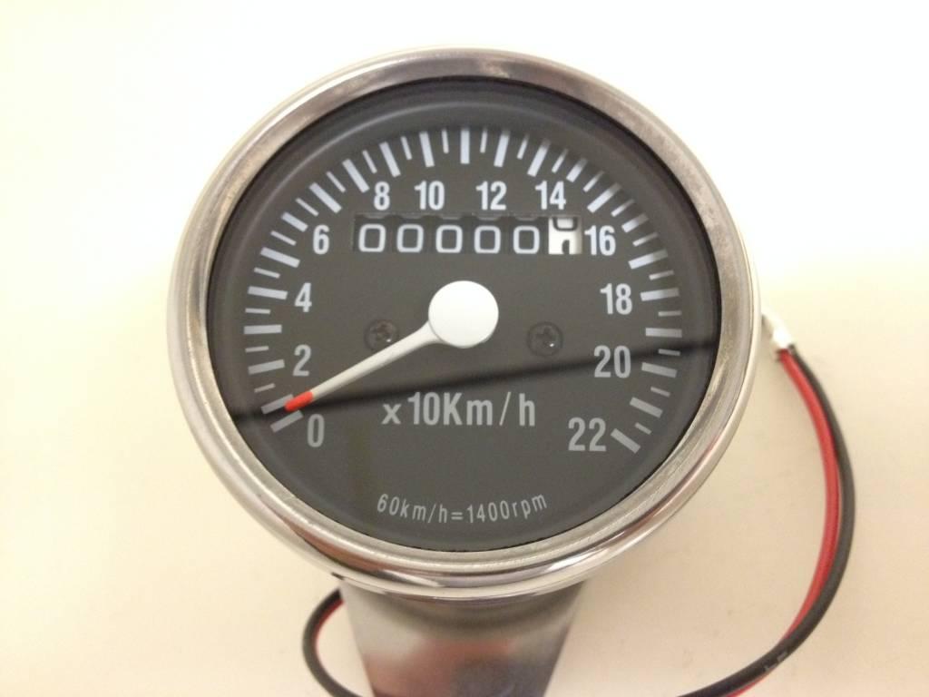 Motorrad Tacho schwarz bis 220 km//h mit Tageskilometerzähler