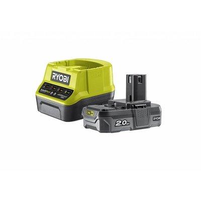 Ryobi ONE + 1 x 18V 2.0Ah Lithium Batterie 2,0 A + Ladegerät
