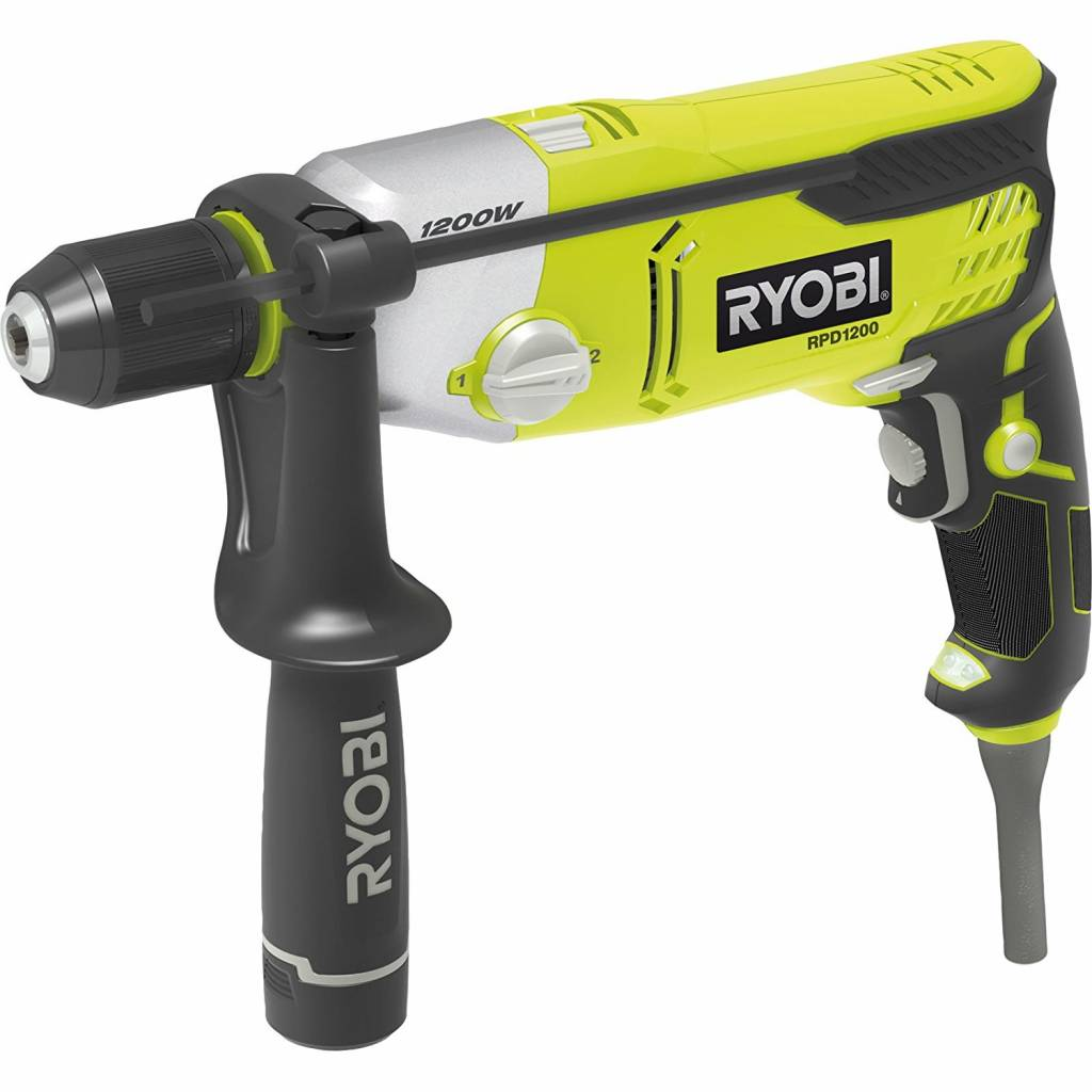 Ryobi Percussion Drilling Machine 1200W 2 Speed With LED RPD1200 K