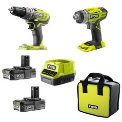 18V Combo Kit: R18DD3 + RID1801 + 2 x Batterie 2.0A ** R18DDID-220S
