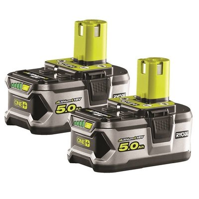 Ryobi One + Paire de 2 batteries lithium 18V 5,0 Ah RB18LL50