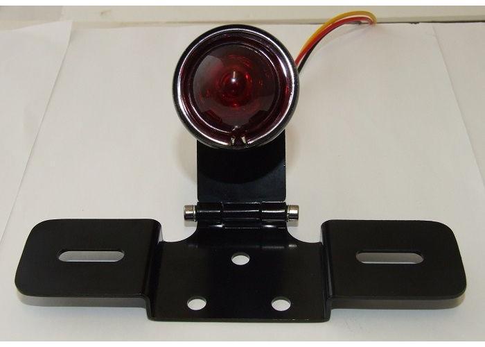Emgo Atomic Rücklicht Klassik Metall Schwarz mit Kennzeichenhalter