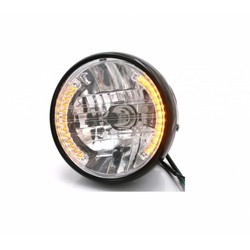 "6.5"" Halogen H4 Headlight with integrated Turn Signals"