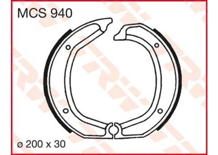 TRW Bremsbacken Satz Lucas MCS 940 hinten für BMW /5, /6, /7 Modelle und R 45/65 bis 9/80
