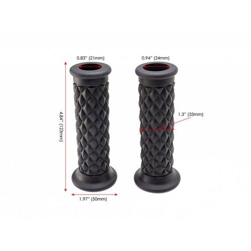 Black Diamond Cafe Racer Style handvatten - 22 mm (7/8 inch)