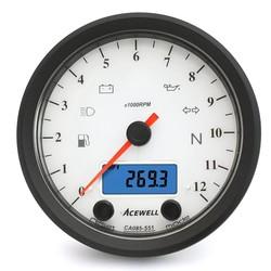 CA085 12.000 tr/min Indicateur de vitesse Blanc / Noir