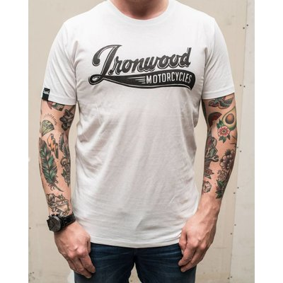 Ironwood Motorcycles T-shirt Logo Ironwood Motorcycles blanc
