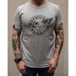 T-shirt Flying Skull gris
