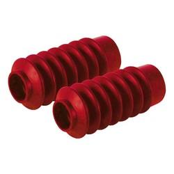 Soufflets de fourche rouges type 9