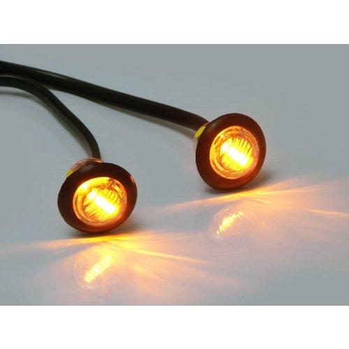 Amber 12V ronde vlakke minirichtaanwijzigers-LED