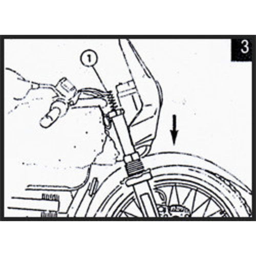 Hagon BMW R 100 GS Cartridge (Onderdeel BMW) 88> Voorvork Veren Set