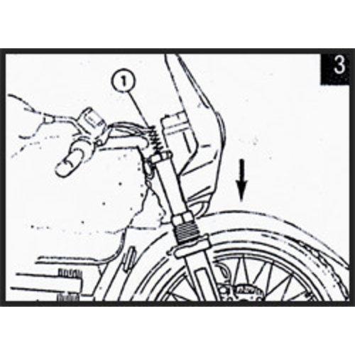 Hagon BMW HP 2 verlaagd 50-80mm incl. hulzen 2005> Voorvork Veren Set