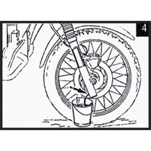 Hagon Moto Guzzi V 65 Lario TT 85 Voorvork Veren Set