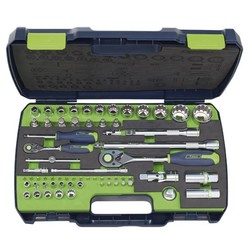 "Socket wrench set 1/4"" & 1/2"" 65-piece"