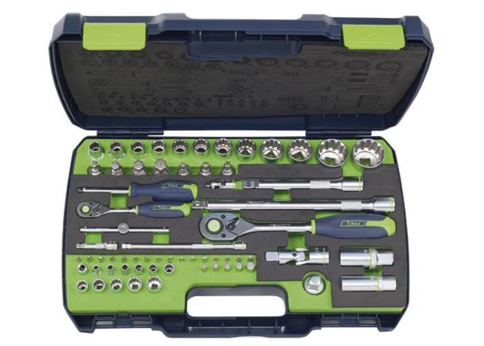 "Tirax socket wrench set 1/4 ""& 1/2"" 65-piece"