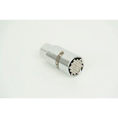 """Tirax Douille universelle 3/8"""" 9-21mm avec 43 broches en acier"""