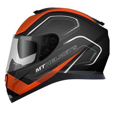 MT Helmets Thunder III SV Trace Schwarz / Orange