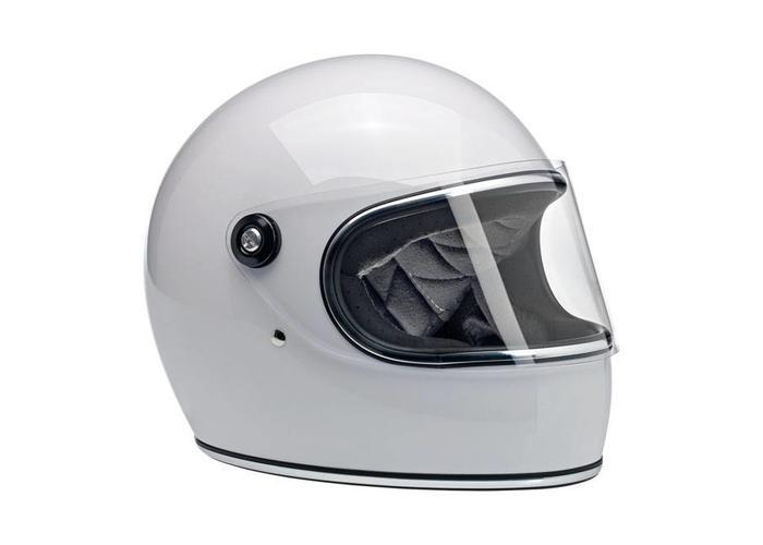 Biltwell Gringo S Helm Weiß Tri-Streifen