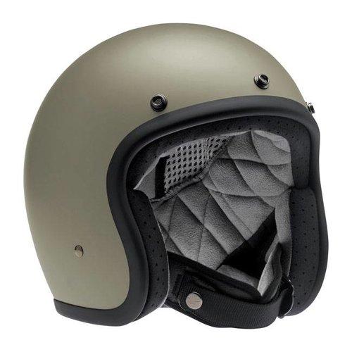 Biltwell Bonanza 3/4 Face Helmet Flat Titanium