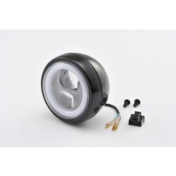 """Seitlich montage LED-Scheinwerfer """"Capsule120"""" Schwarz E-geprüft"""
