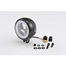 "Bottom-Mount LED Headlight ""Capsule120"" Black E-Marked"