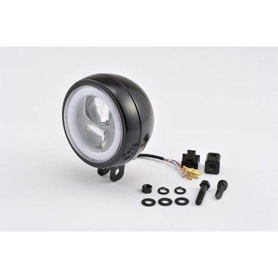 """Daytona Bottom-Mount LED Headlight """"Capsule120"""" Black E-Marked"""