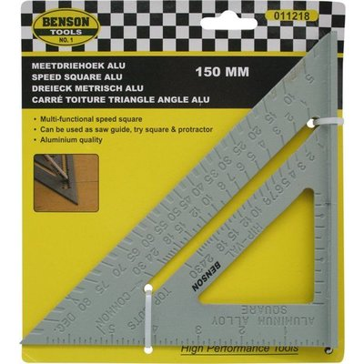 Speed square Aluminium 150mm