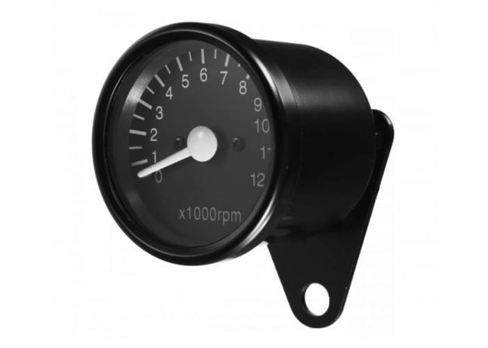 12.000 Drehzahlmesser Tachometer Elektrisch Schwartz