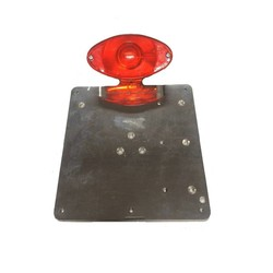 Universal plate holder including tail light