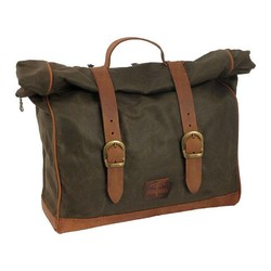 Single Side Saddlebag Large Waxed Cotton Khaki