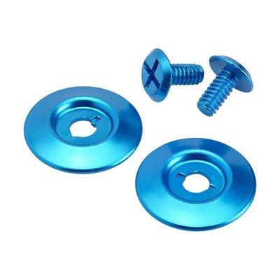 Biltwell Kit de boutons-pression bleus