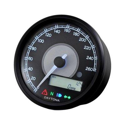 Daytona Velona 260 km/h & RPM Teller Zwart 80MM