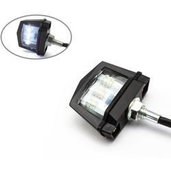 Black Universal Bolt on LED License Plate Light - E-marked