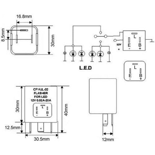 Blinker-LED-Relais CF14 JL-02