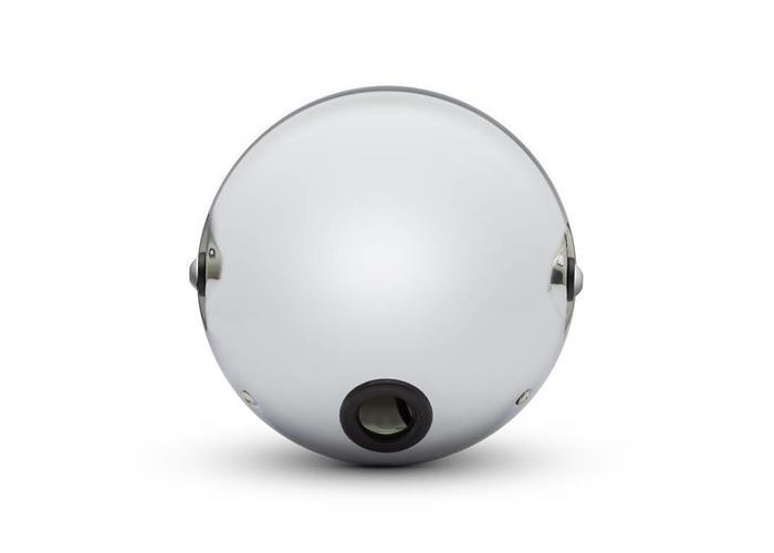 """7 """"Chrom Shorty Metallscheinwerfer - 12v / 55w Sealed Beam"""