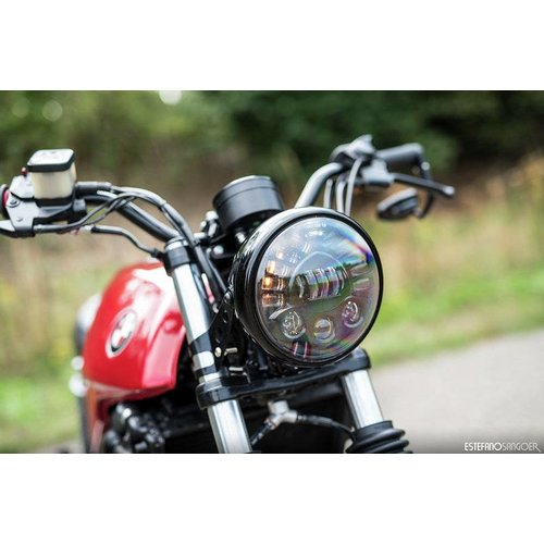 "7.7 ""Multi LED Headlight + Indicators Black"