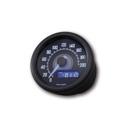 Velona Compteur de vitesse noir 200 km/h