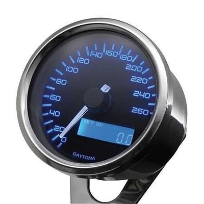 Daytona Indicateur de vitesse Velona chromé 260 km/h