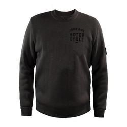 gestrickter Pullover mit Rundhalsausschnitt GRAU mit Schutzstoff