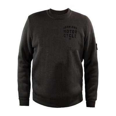 John Doe knit pullover roundneck GREY with xtm kevlar