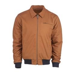 Canvas Zip-up Jacket Brown size S